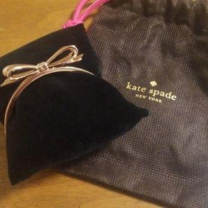 "Kate Spade ""Love Notes"" Rose Gold Hinged Bracelet"